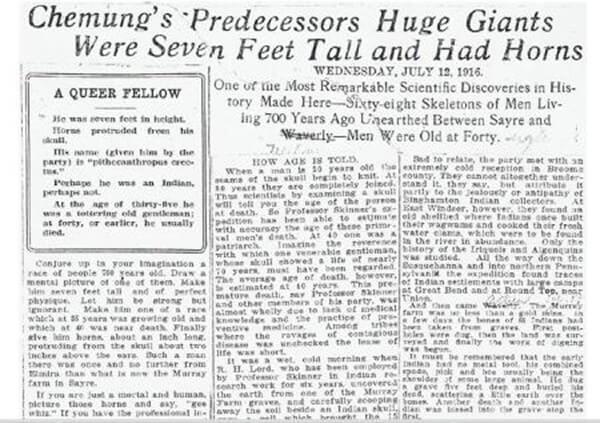 Este recorte de periódico demuestra que el descubrimiento fue real
