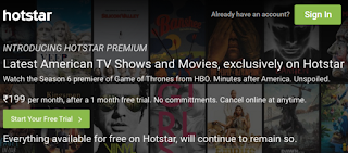 Trick to Get Hotstar Premium Account For Free-Watch GOT in Full HD