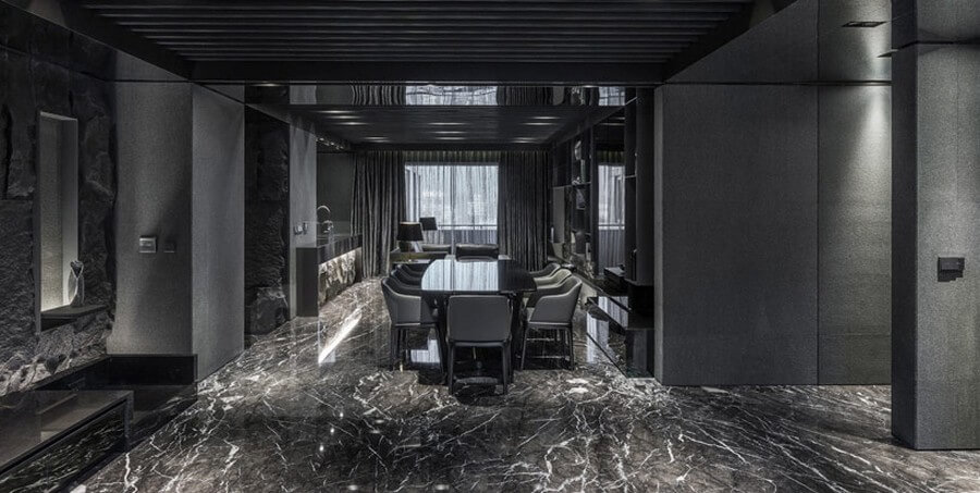 Good Black Marble Floor Tile Colors For Meeting Room