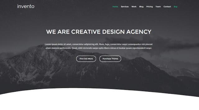 Invento - шаблон для landing page - сайт визитка