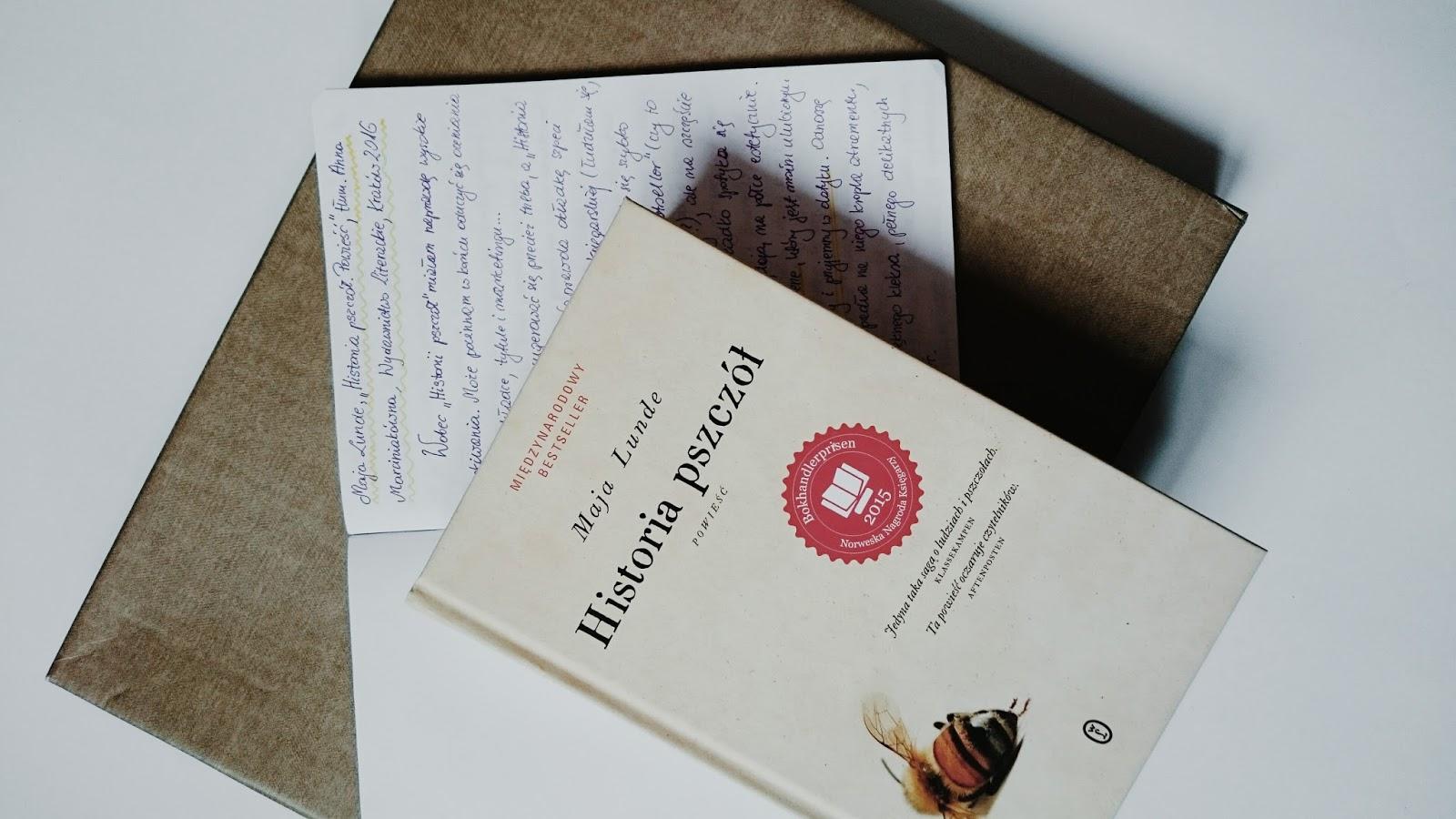"maja lunde, ""historia pszczół"" - recenzja"