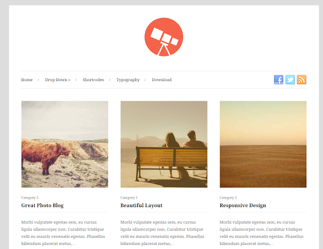 Photo - free photography WordPress theme