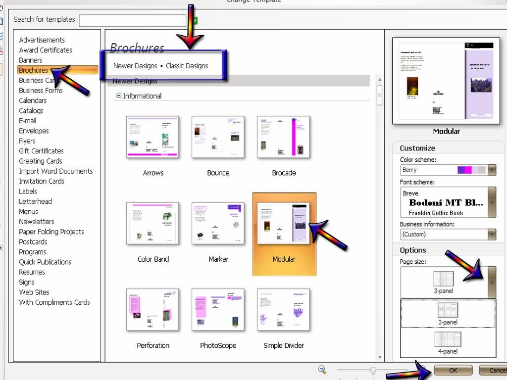Cara membuat Brosur atau Brochures di Microsoft Office ...