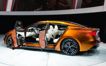 Wallpaper: New York. Auto Show. Nissan Sport Sedan Concept