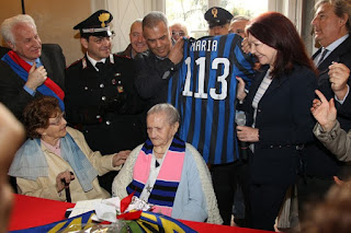 Maria with her personal Inter shirt