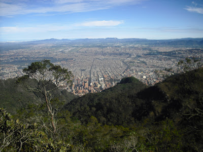 Bogotá D.C., Colombia, viewed from a high ...