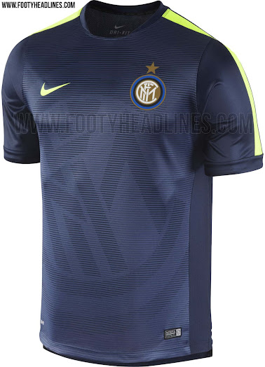 size 40 c34d5 5bd5d Nike Inter Milan 2015 Pre-Match and Training Shirts Released ...