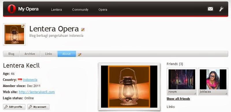 My Opera Tutup 1 Maret 2014