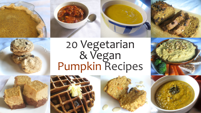 20 Nourishing Vegetarian and Vegan Pumpkin Recipes