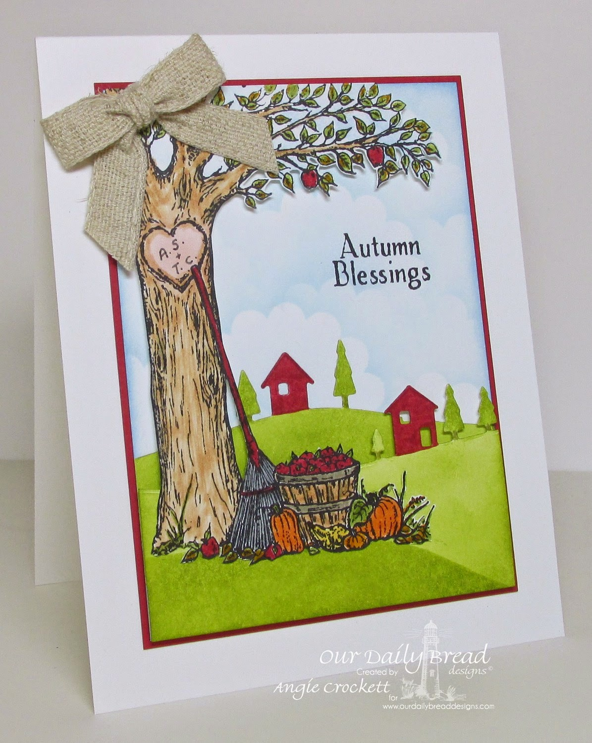 ODBD Autumn Tree, Card Designer Angie Crockett