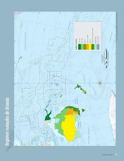 Apoyo Primaria Atlas de Geografía del Mundo 5to. Grado Capítulo 2 Lección 4 Regiones Naturales de Oceanía