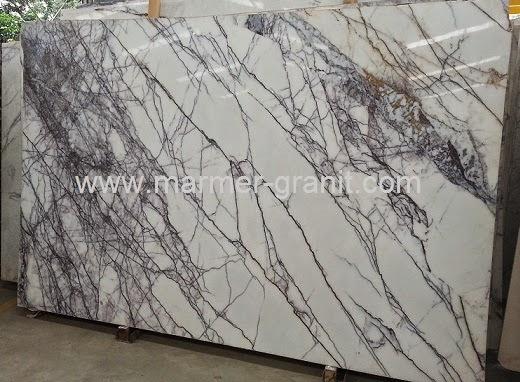 Lantai Marmer Import White Lilac