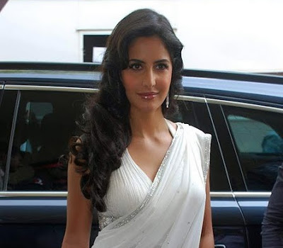 jagga jasoos Actress Katrina Kaif sexy photo In White Saree