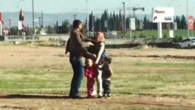 بالفيديو رجل تركي يضرب زوجته أمام أطفالهما يثير سخط رواد مواقع التواصل