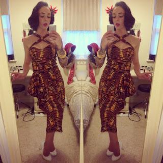 Pinup Girl Clothing Voodoo Vixen Tiger Print