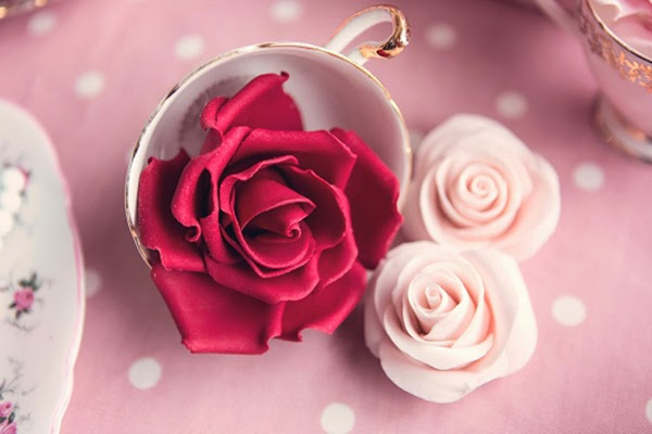 Sugar craft roses