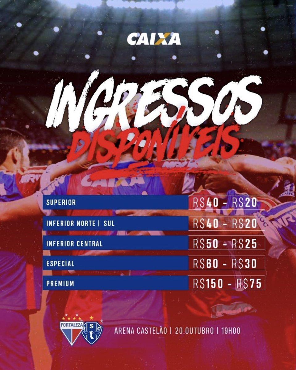 Fortaleza já vendeu 21.001 ingressos para jogo do acesso 6998b0bde2