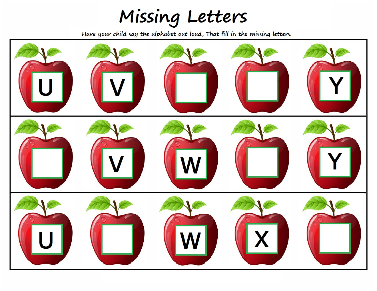 Worksheets Alphabets For Kindergarten kindergarten worksheets missing letters letters