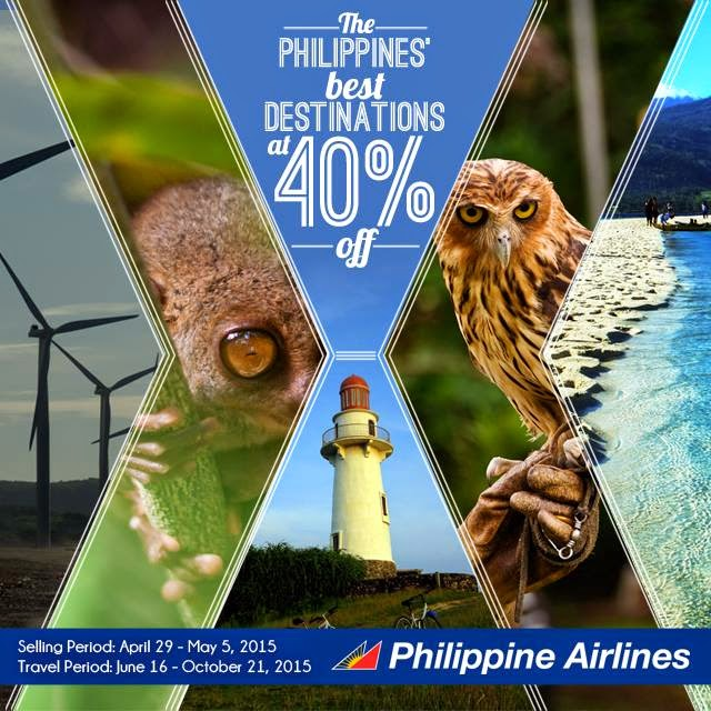 63cf3b4338 PAL Seat SALE - 40% off on Domestic Destinations  Apr-May 2015