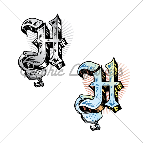 Letter H Tattoo ...H Letter Design