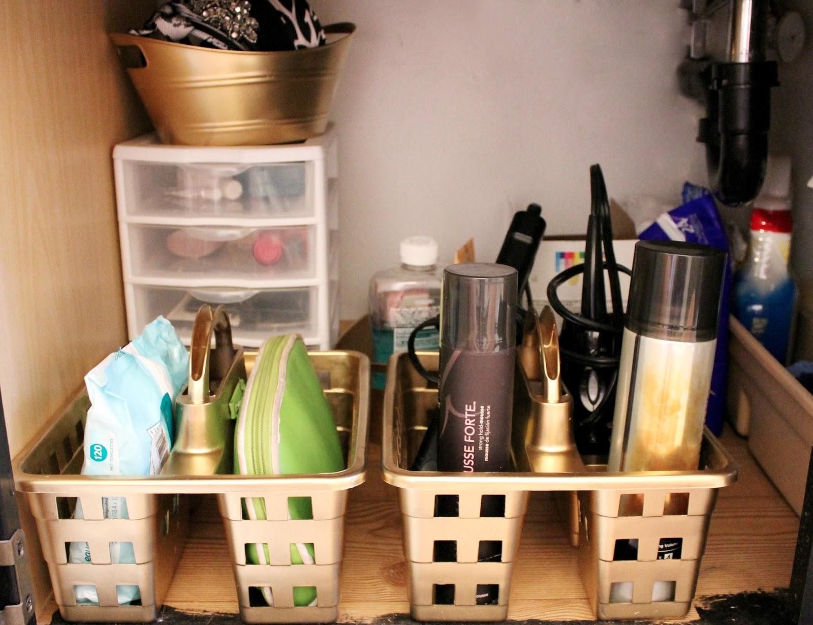 dollar store makeover - bathroom organization - lou lou girls