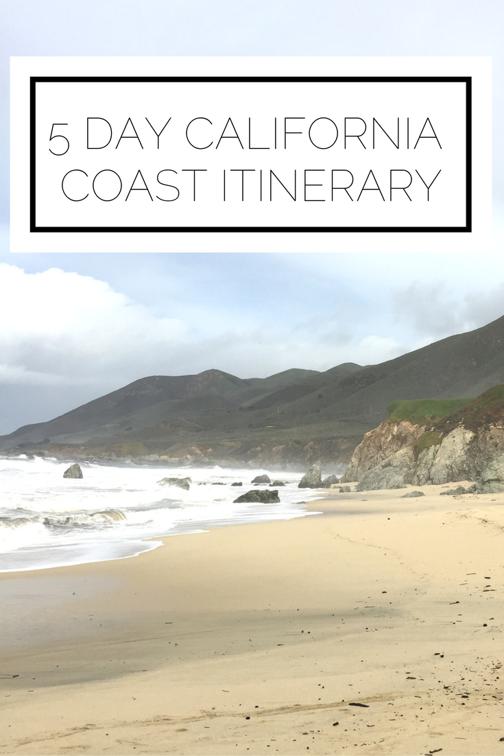 Click to read now or pin to save for later! Here is a complete 5 day itinerary for the California coast! From San Francisco, to Highway 1, to Monterey, Carmel by the Sea, Pebble Beach, and Big Sur, we've got you covered