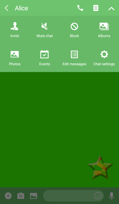 Star Green button