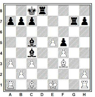 Posición de la partida Kroster - Meyerman (Oldemburgo, 1988)