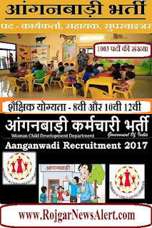 Anganwadi Job Recruitment 2017
