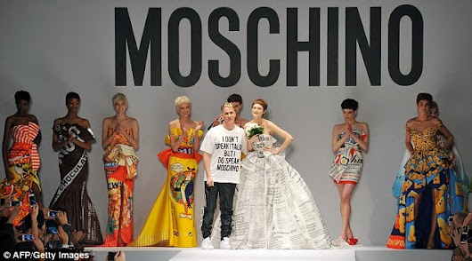 Jeremy Scott for Moschino at Milan Fashion Week.