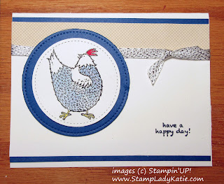 Greeting Card decorated with chickens from Stampin'UP!'s Sale-a-bration Hey, chick stamp set