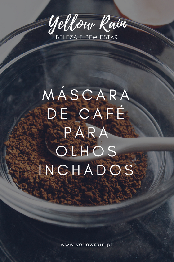 Yellow Rain - Máscara De Café Para Olhos Inchados   DIY