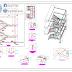 مخطط تفصيلي سلالم من الهياكل المعدنية اوتوكاد dwg
