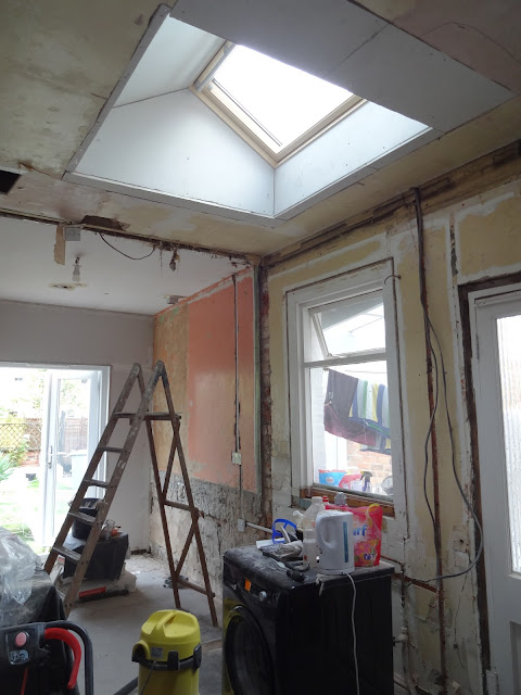 velux window in flat kitchen ceiling