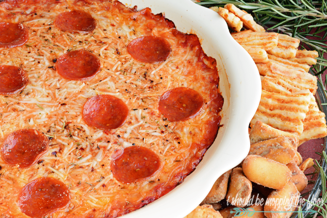 Easy Pizza Dip | Perfect low carb recipe that kids and adults both love!