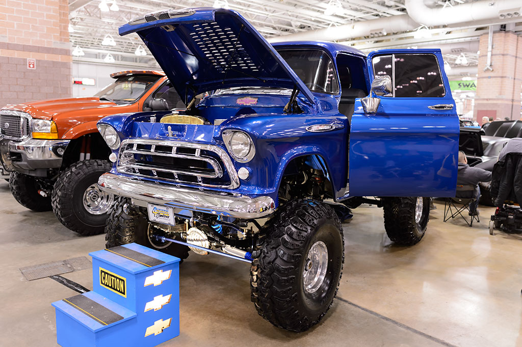 Lifted 1957 Chevrolet Apache truck