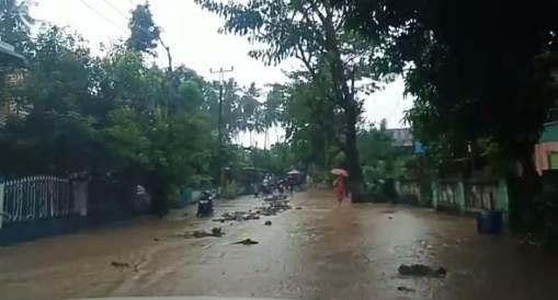 Banjir, Jalur Masuk Kota Benteng Dari Utara dan Selatan, Berbahaya Bagi Pengendara