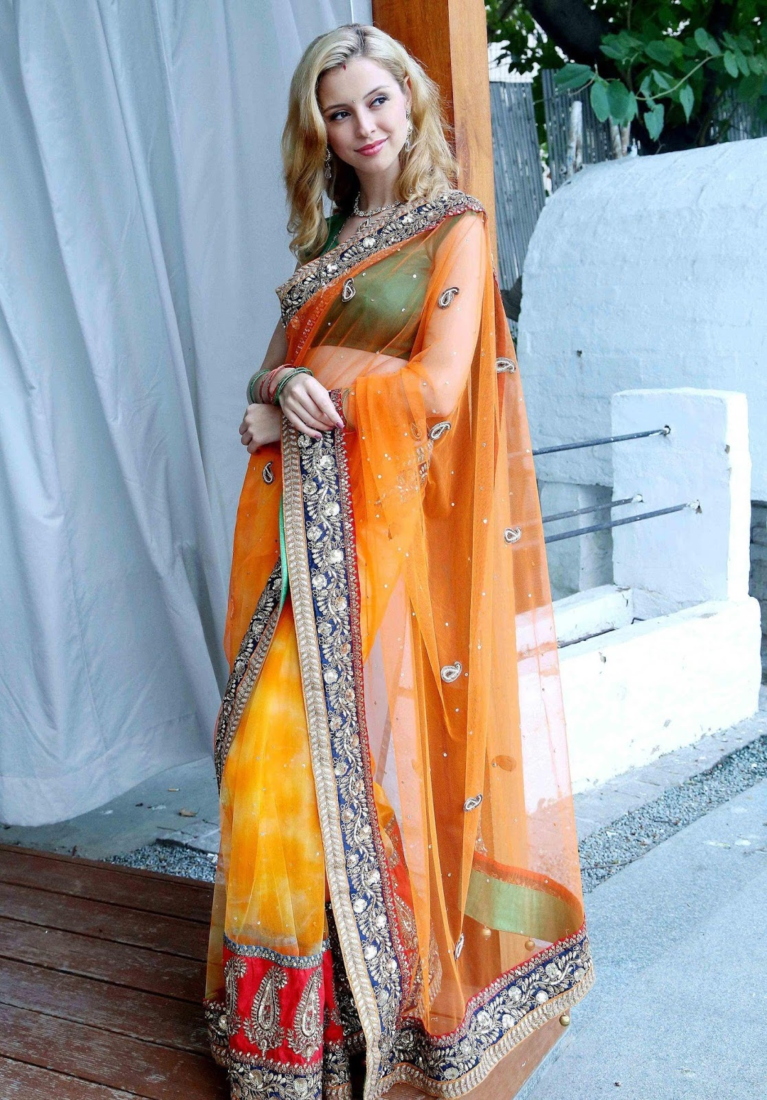 Tv Actress In Transparent Yellow Saree Sippora Zoutewelle