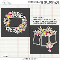Template : Summer Leaves02 by Akizo Designs