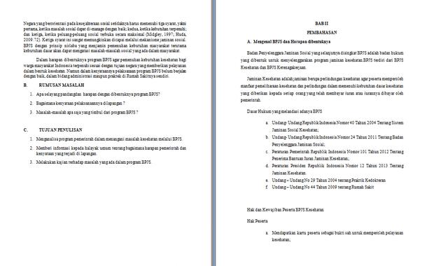 Contoh Makalah Hukum Kesehatan Tentang BPJS