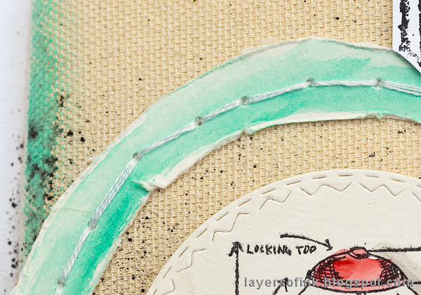 Layers of ink - Canvas background art journal page by Anna-Karin Evaldsson.