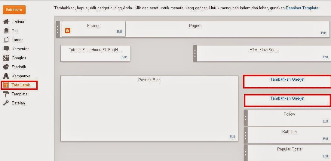 Cara Menambahkan Widget pada Blog
