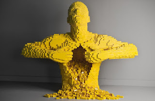 amazing LEGO creation: Torso Man by Nathan Sawaya