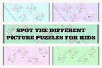 Spot the different picture puzzles for kids with answers