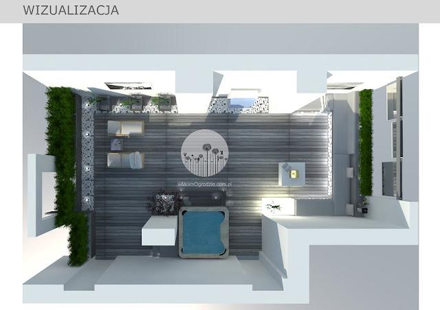 koncepcja zagospodarowania ogrodu na tarasie