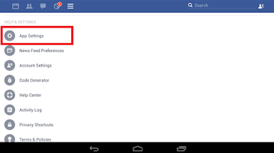 pengaturan aplikasi facebook