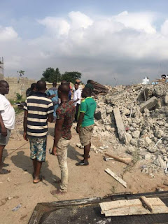 Properties worth a total of N500 million Demolished By Lagos State Ministry Of Physical Planning And Urban Development
