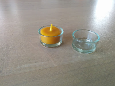 bijenwas waxinelichtje