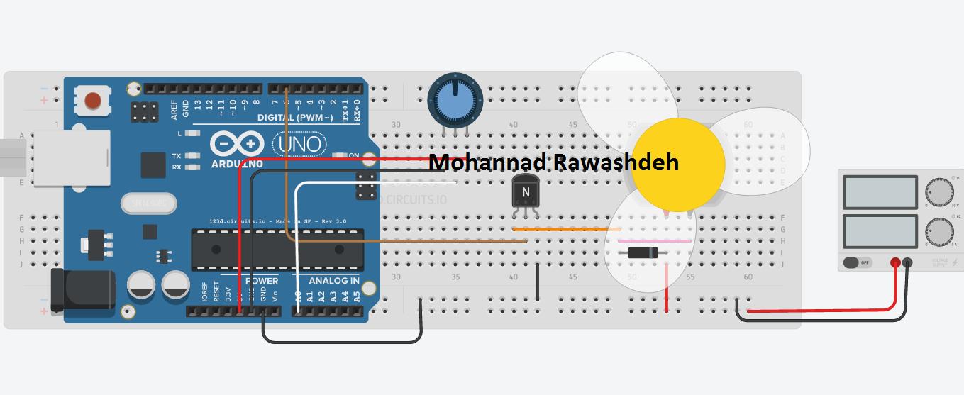 Motor speed control using potentiometer - M B Raw