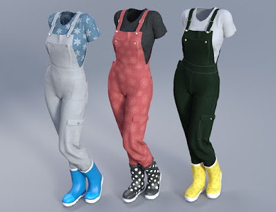 Garden Outfit for Genesis 3 Female